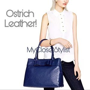 Kate Spade XL Ostrich Leather LARGE Tote Bag Purse